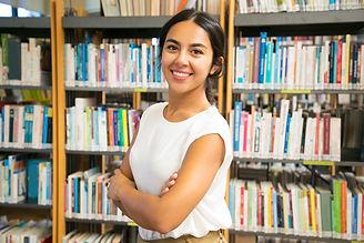 smiling-asian-woman-posing-at-public-lib