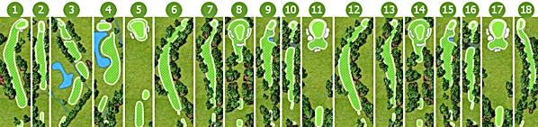 Drax Golf Club Layout