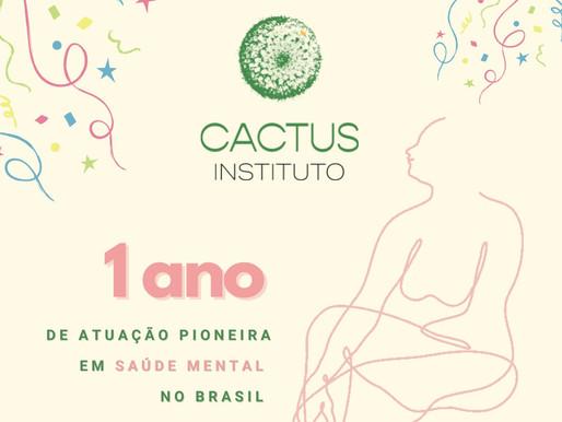 Instituto Cactus: 1 ano de aprendizados em saúde mental