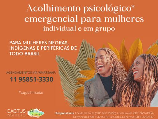 Casa de Marias está com inscrições abertas para acolhimento psicológico emergencial para mulheres