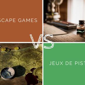 Jeux de piste VS Escape games