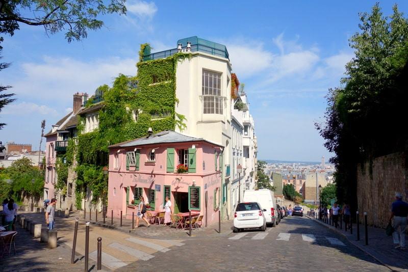 Maison Rose à Paris Montmartre