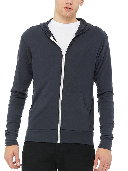 BELLA+CANVAS™ Unisex Triblend Full-Zip Lightweight Hoodie