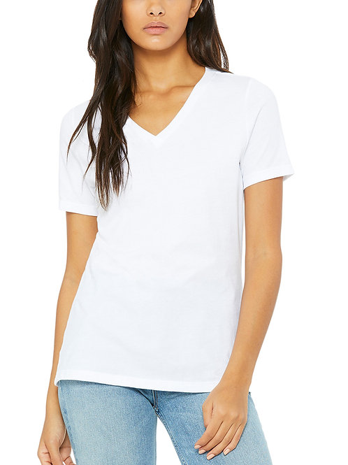 BELLA+CANVAS™ Ladies' Relaxed Jersey Short-Sleeve V-Neck T-Shirt
