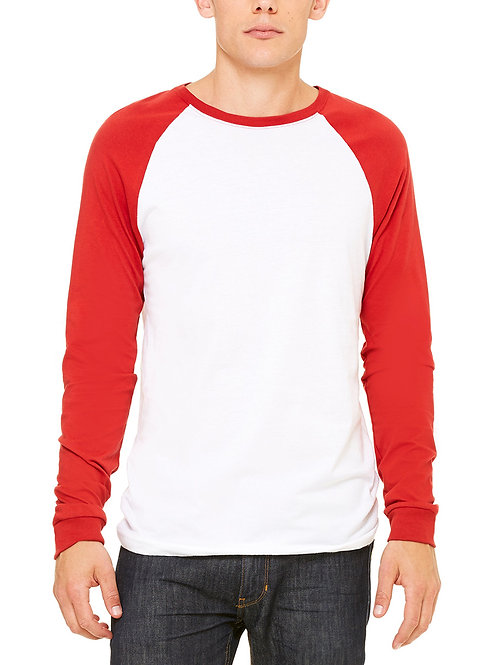 BELLA+CANVAS™ Men's Jersey Long-Sleeve Baseball T-Shirt