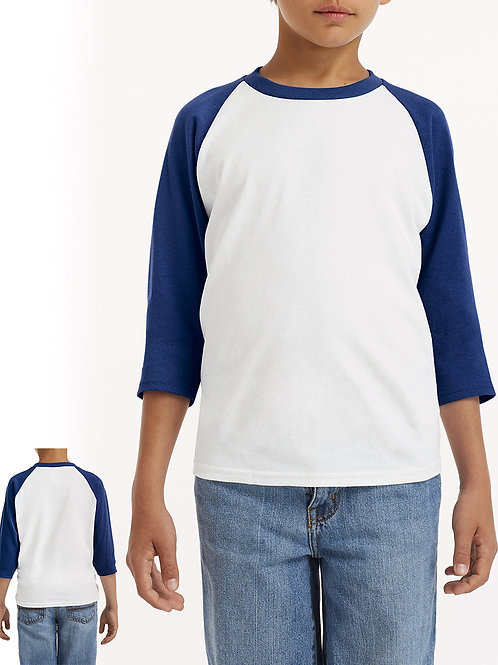 GILDAN Youth Heavy Cotton™ 3/4-Raglan Sleeve T-Shirt