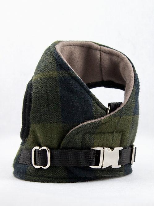 Dog Harness - Green Plaid