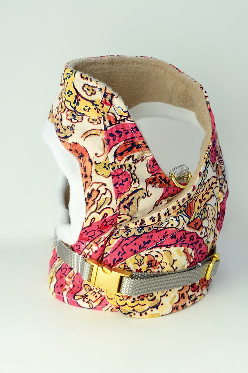 Dog Harness - Pink Paisley