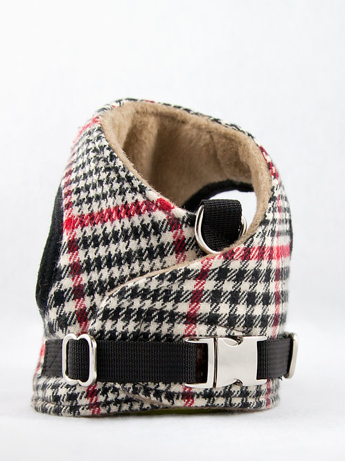 Dog Harness - Red Check