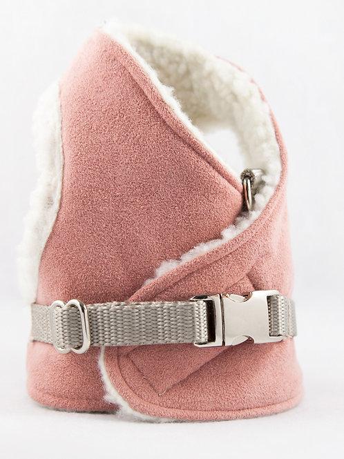 Dog Harness - Blush Suede