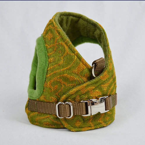 Dog Harness - Copper & Green