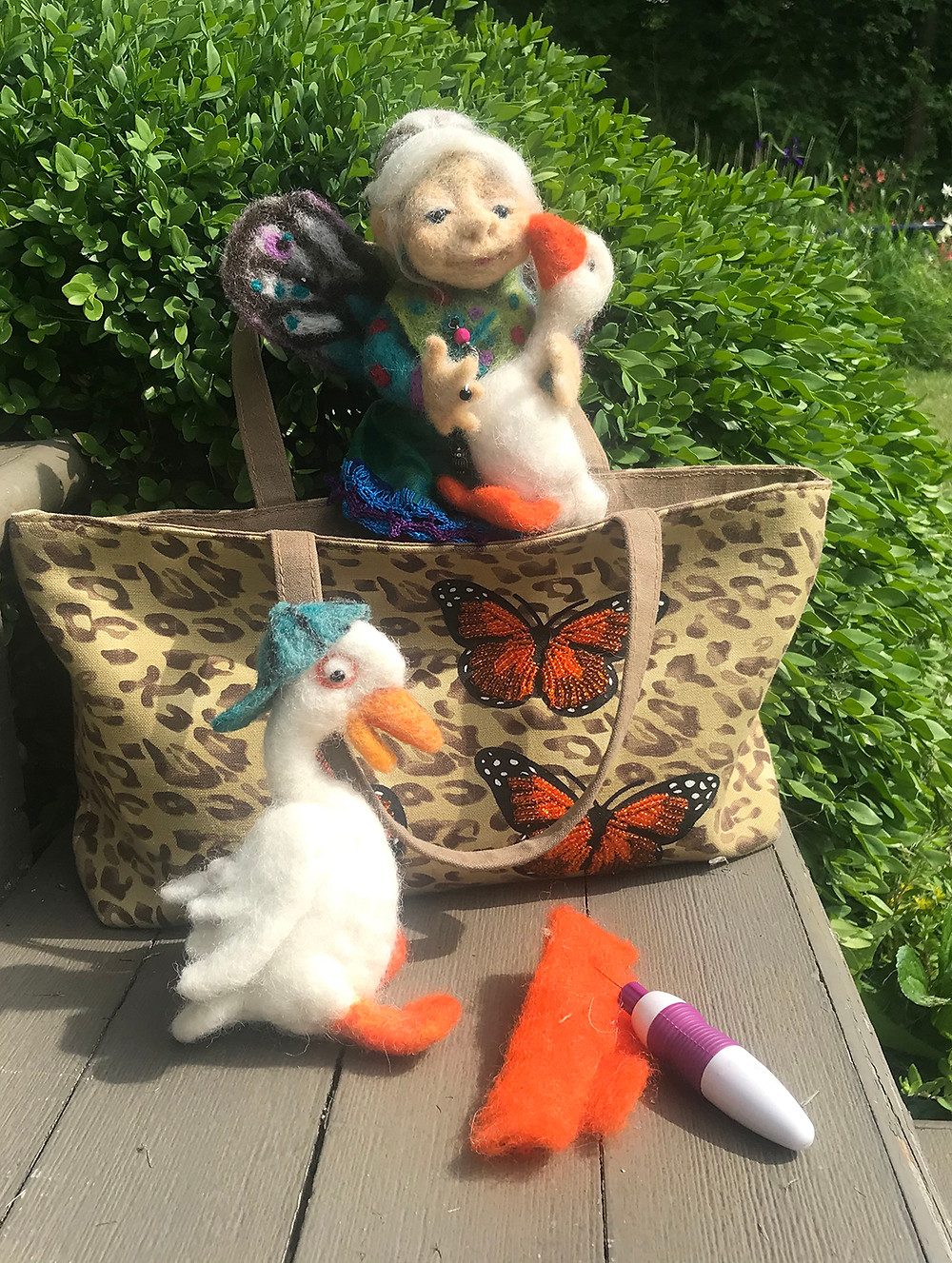 Felted Critters and Fairy Grandmother