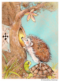 Hedgehog takes a peek.