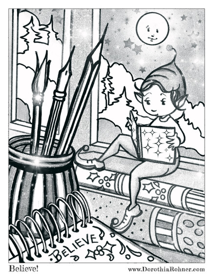 Believe! Coloring Page