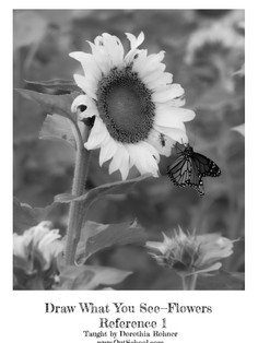 Sunflowers - BW