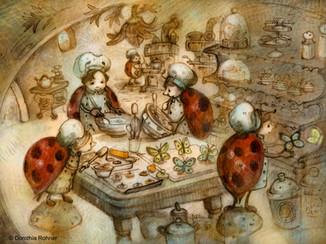 Ladybugs Baking