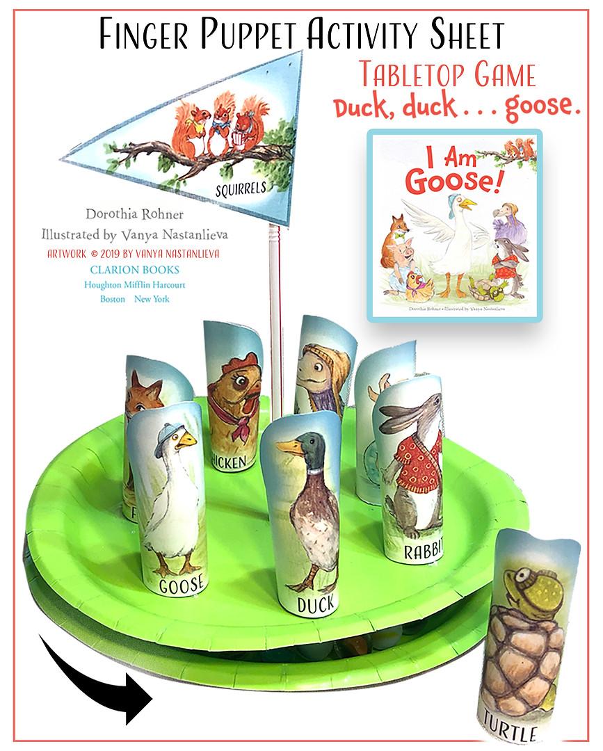 I Am Goose Figer Puppets