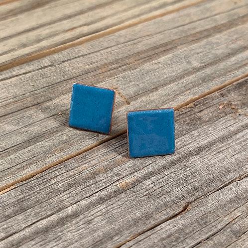 Light Blue Square Studs