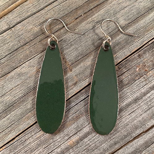 Green Long Teardrop