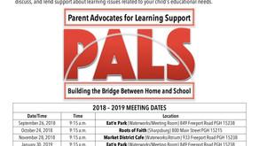 PALS 2018 -2019 Meeting Schedule