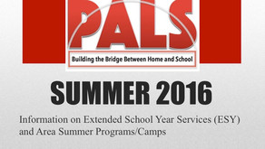 PALS January 2016 - Extended School Year (ESY) & Summer Camps