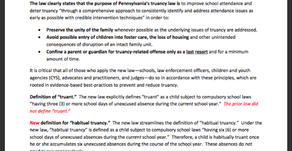 Governor Wolf Signs New Truancy Law