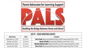 PALS 2019 -2020 Meeting Schedule