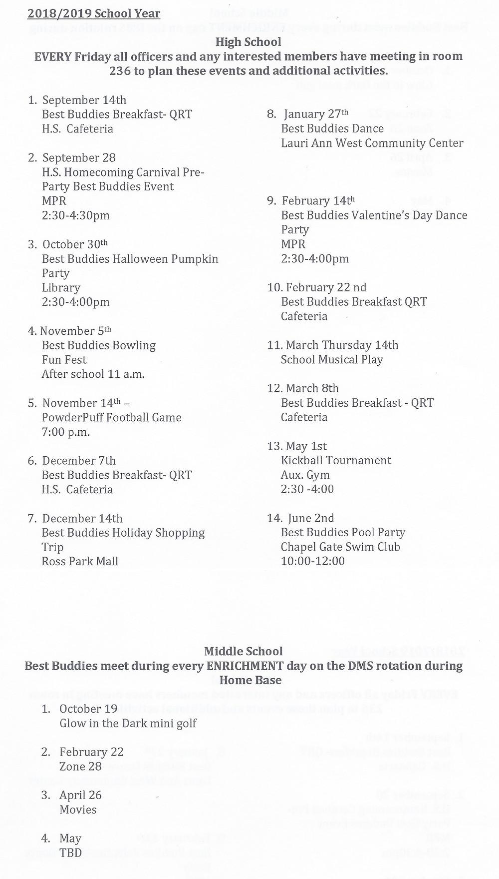 Best Buddies Program Fox Chapel Area School District