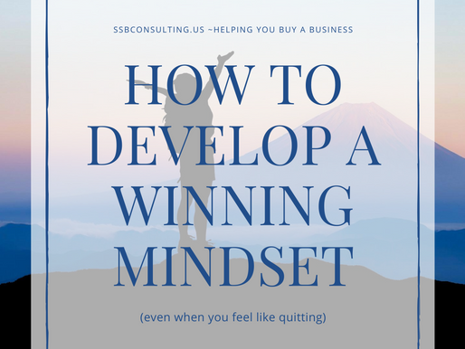 How to develop a winning mindset (even when you feel like quitting)