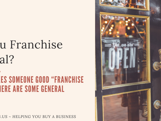 Are You Franchise Material?