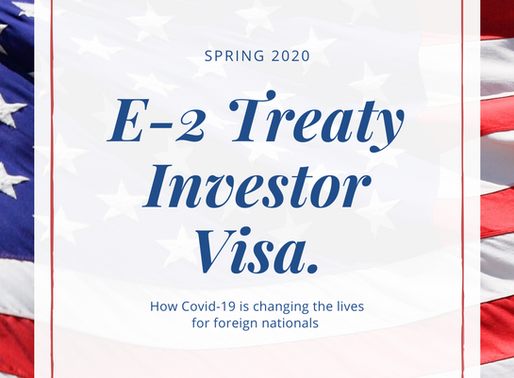 Covid-19 and the E-2 Visa