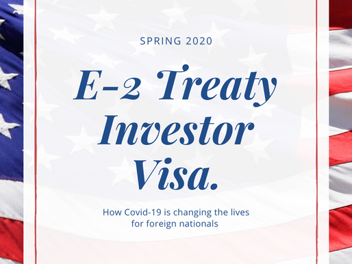 Covid-19 and the E-2 Visa