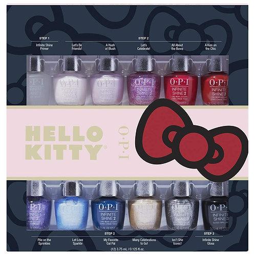 OPI Hello Kitty Infinite Shine Mini Set Of 12