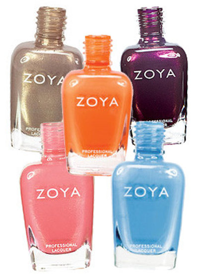 Zoya Shimmer Nail Polishes