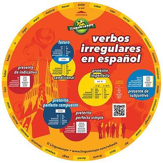 Spanish irregular verbs wheel