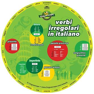 Italian irregular verbs wheel