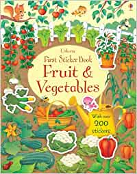 First Sticker Book Fruits and Vegetables