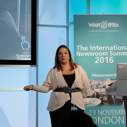 Sely Colón at WAN-IFRA Europe