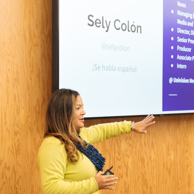 Sely presenting