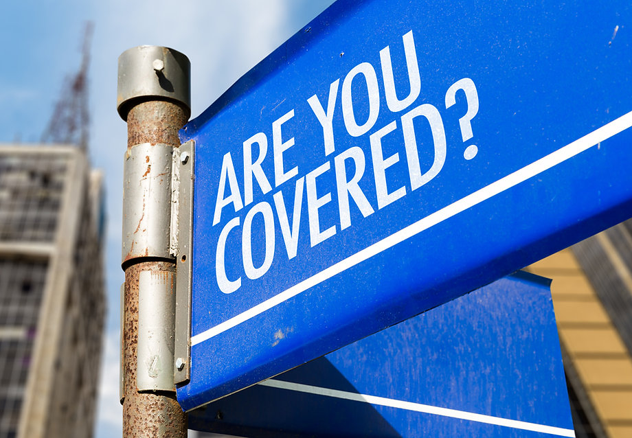 Are You Covered_ written on road sign