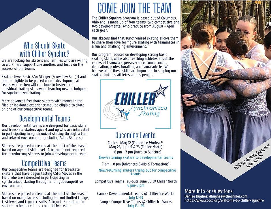 Chiller Synchro Recruiting Flyer Apr2021
