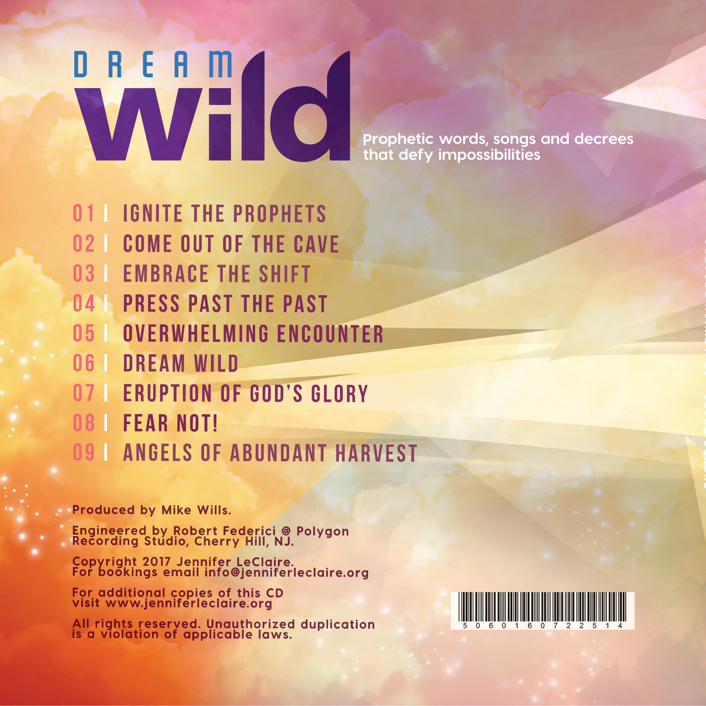 Dream Wild Back