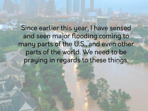 I SAW MAJOR FLOODING IN THE U.S. & OTHER NATIONS