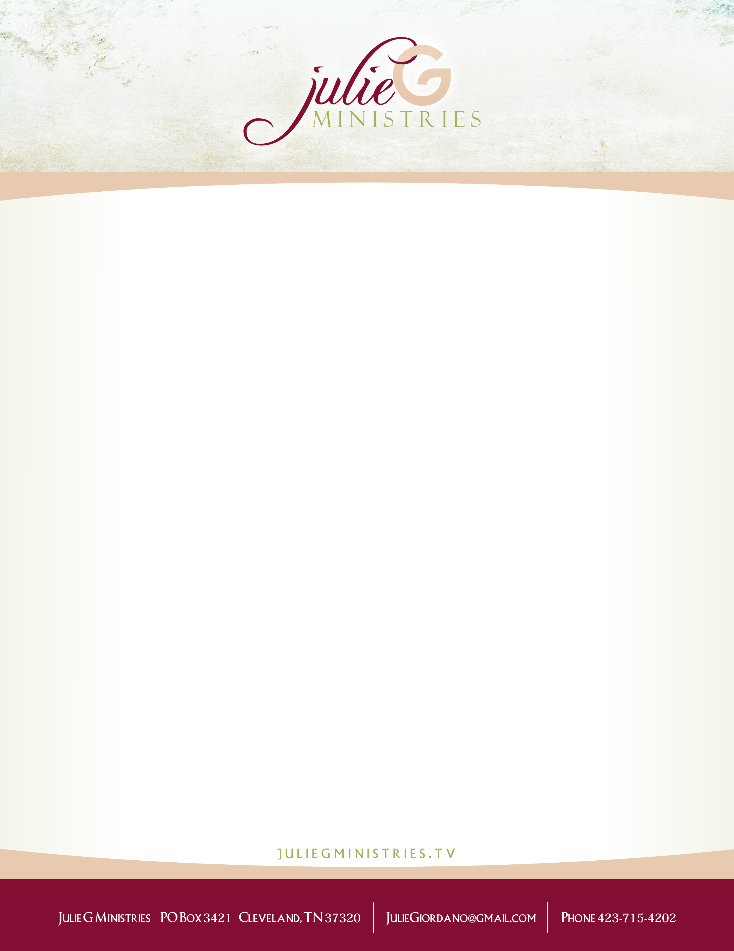 Julie G Ministries - Stationary Print File