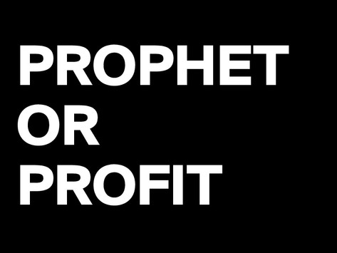 PROPHETIC PROSTITUTION