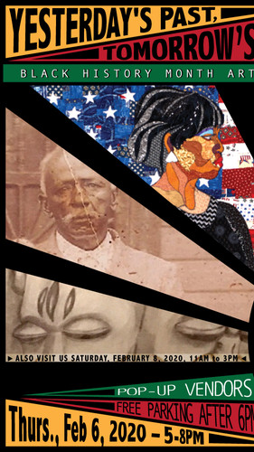 M Street Arts Complex Black History Month Art Exhibit, Currated by Vanessa Addison-Williams & Sharon Carter, Poster design by VAWcreative