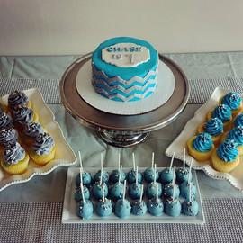 Fun first birthday arrangement from last