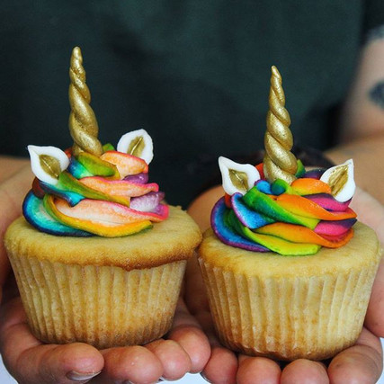 Unicorn cupcakes! 😍 Absolutely adored making these cuties! #unicorn #love #rainbow #erinsedibles #cupcakes #locavore #mermaid #next