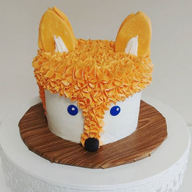 How cute is this fox smash cake_ We love