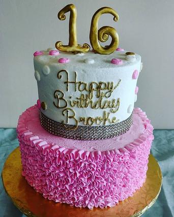 All buttercream Sweet 16 cake! _#mainstr